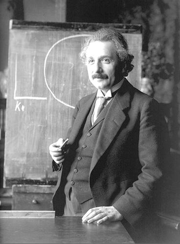 Albert Einstein in 1921. (Photograph by Ferdinand Schmutzer; courtesy of the National Library of Austria.)